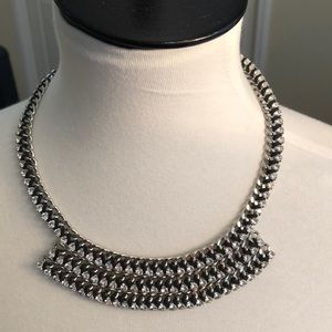 Jewelry - Lola and Grace Rhinestone/Leather Choker Necklace